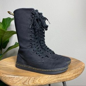 Dr Martens Battersea 14 eye canvas boots size 5